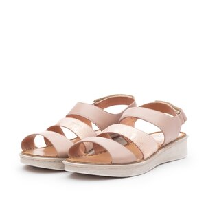 Sandale cu talpa joasa din piele naturala,Leofex - Mostra Geanina nude